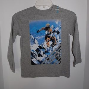 NWT Children's Place Skiing Gray Long Sleeve Tee